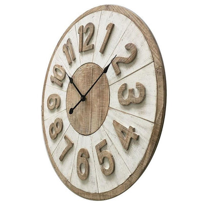 Yearn Hamptons Giro Distressed Wall Clock 70cm 11721CLK 1