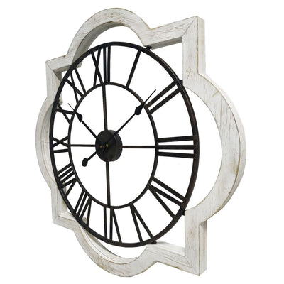 Yearn Industrio French Metal and Wood Wall Clock 70cm 11738CLK 1