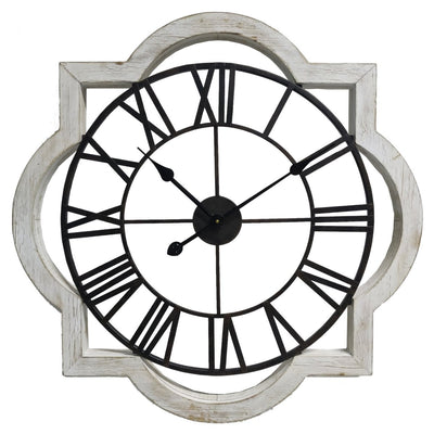 Yearn Industrio French Metal and Wood Wall Clock 70cm 11738CLK 2