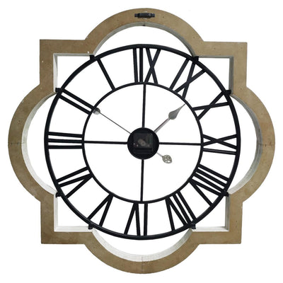 Yearn Industrio French Metal and Wood Wall Clock 70cm 11738CLK 3