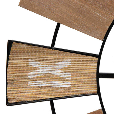 Yearn Nordic Mix Timber Tones Wood and Metal Wall Clock 70cm 92001CLK 3