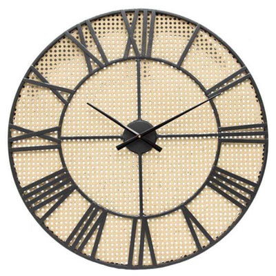 Yearn Tropea Roman Metal Skeleton Wall Clock 70cm 91983CLK 1