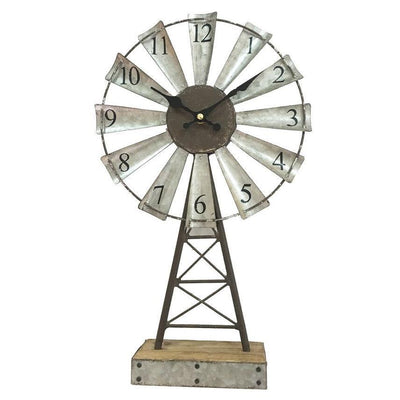 Yearn Windmill Desk Clock 41cm 11729CLK 2