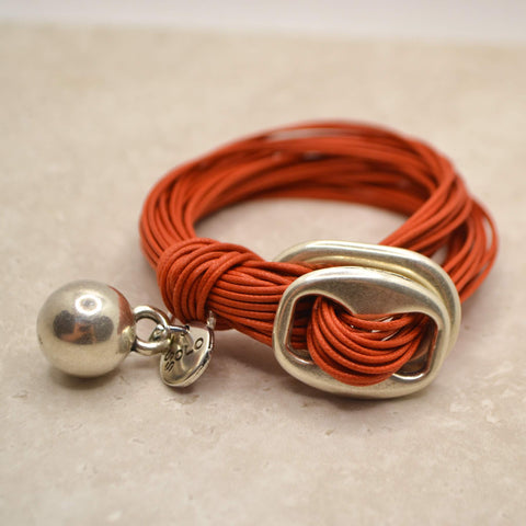 Cotton Bracelet with ball charm