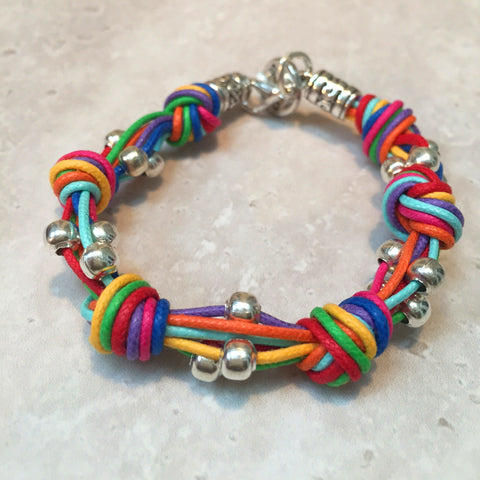 Multi Coloured Knot Bracelet