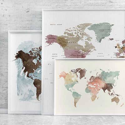 World map posters collection photo artprintsvicky480xgv1509301897 world map posters sciox Images