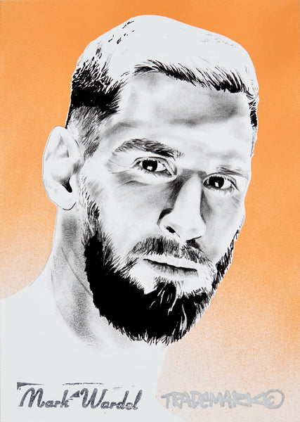 'Messi Head' Hand Sprayed Art Print