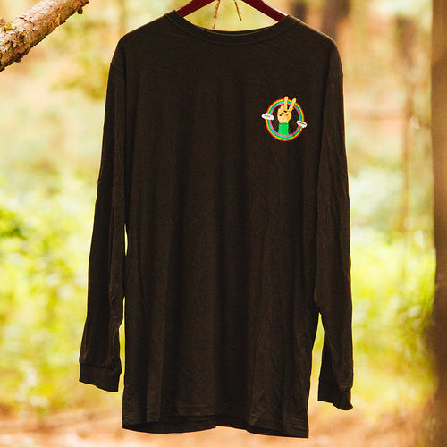 Peace and Rainbows L/S Mens Black