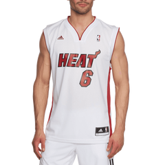 Adidas Men's Miami Heat Lebron James NBA Replica Jersey