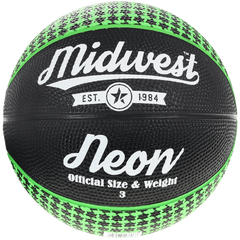 Midwest Neon Basketball Black Green All Sizes Available