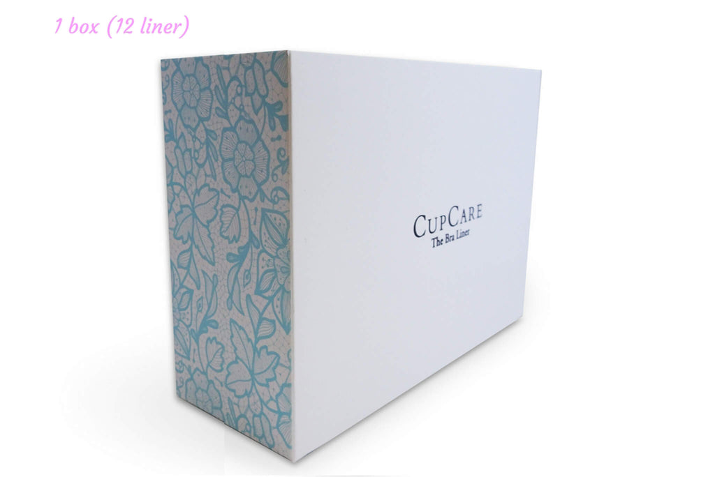 1 Box of CupCare (12 liners - White)  - CupCare The Bra Liner - 1