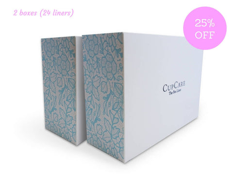 2 Packs of CupCare (24 liners - White)  - CupCare The Bra Liner - 1