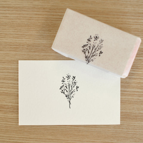 hase rubber stamp flower
