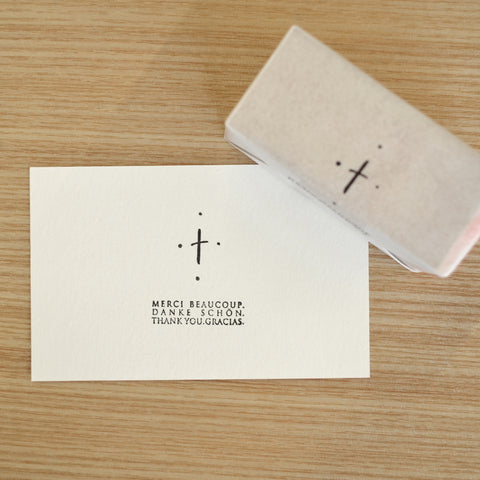 hase rubber stamp cross