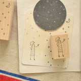 monokoto store Rubber Stamp Night Sky