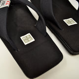 Japanese Setta Sandals Re:kyu Kurashiki Canvas Black | R1300