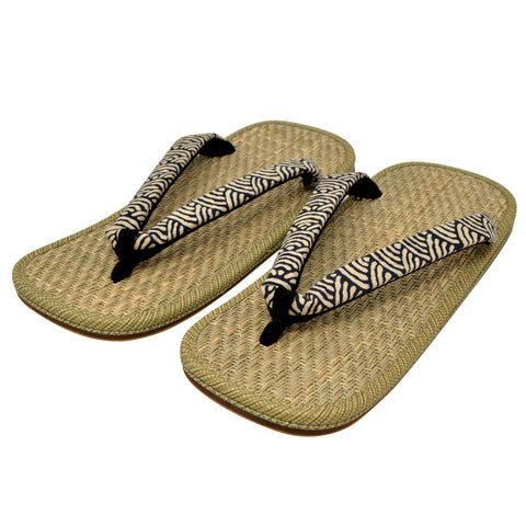 Japanese Setta Sandals Malay Grass Insole/w Wave Strap