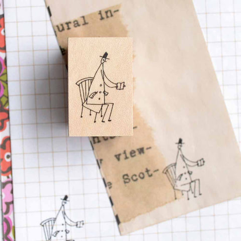 Shuzi Orishige Rubber Stamp Reading
