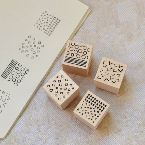 Tomoko Shinozuka | Rubber Stamp 4 Pcs Set