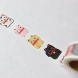 monokoto washi tape Beckoning Cat