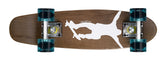 "Ridge 22"" Maple Wood Mini Cruiser Board: Number One Dark Dye with 12 wheel colours"