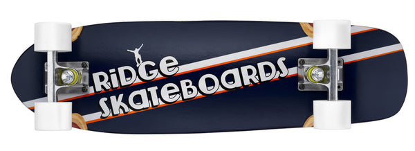 "The Ridge Skunkslider 27"" mini maple short cruiser longboard board by Ridge with 12 wheel colours"