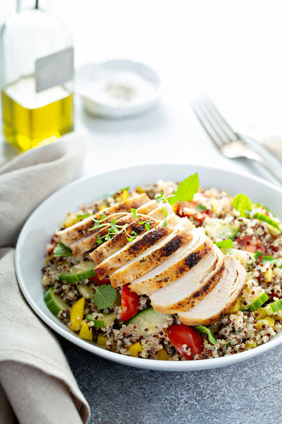 Healthy Grilled Chicken and Quinoa Salad