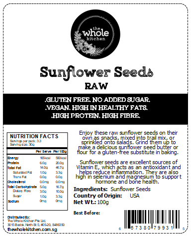 Raw Sunflower Seeds (100g)