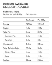 Coconut Cardamom Energy Pearls 12pcs