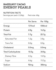 Hazelnut Cacao Energy Pearls 2pcs