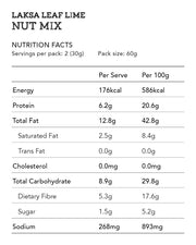 Laksa Leaf Lime Nut Mix 60g