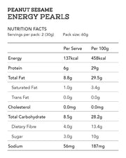 Peanut Sesame Energy Pearls 2pcs
