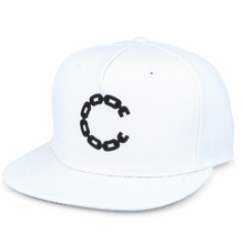 Load image into Gallery viewer, Crooks and Castles - Chain C White Snapback - The Hidden Base