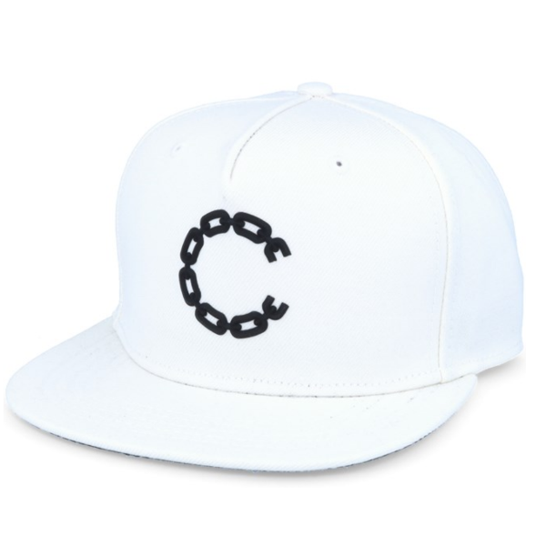 Crooks and Castles - Chain C White Snapback - The Hidden Base