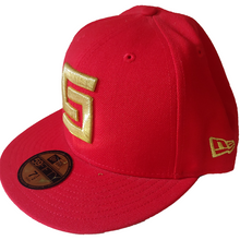 Load image into Gallery viewer, Crooks and Castles - Red Greco Fitted Cap - The Hidden Base