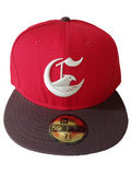 Crooks and Castles - True Red Tobacco Fitted - The Hidden Base