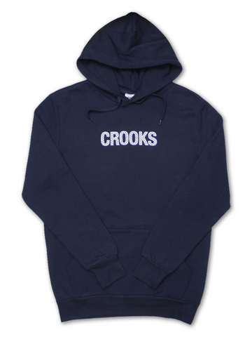 Crooks and Castles - Check Hoodie Navy - The Hidden Base