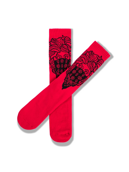 Crooks and Castles - Red Knit Bandito Socks - The Hidden Base