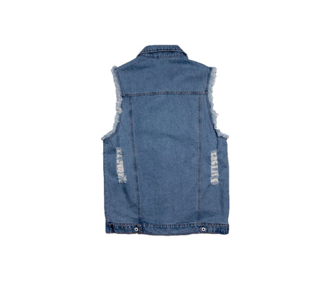 DOPPELGANG - Sleeveless Denim Jacket