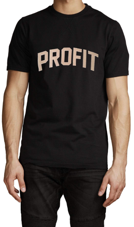 Profit x Loss - Block Profit Tee - The Hidden Base