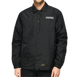 Crooks and Castles - Check Black Coaches Jacket - The Hidden Base