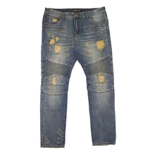 Load image into Gallery viewer, Embellish NYC - Distressed Biker Denim
