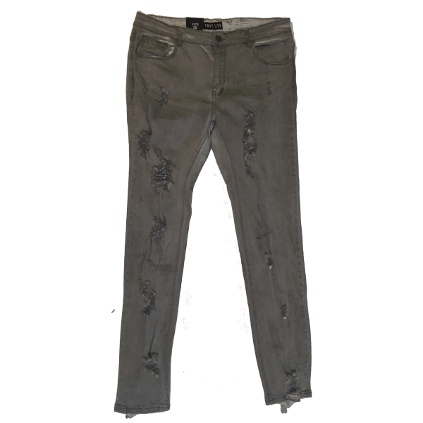 The Hidden Base Grey Distressed front