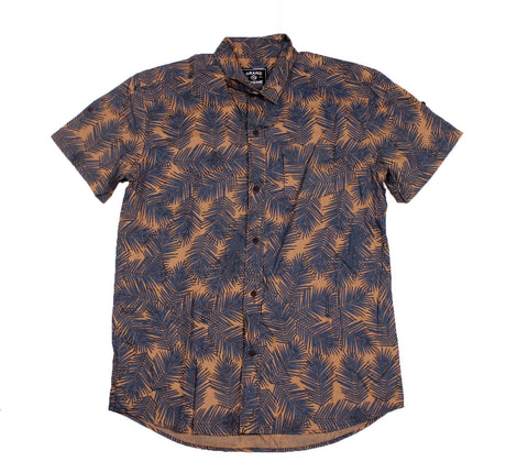 Grand Scheme - Palm Camo S/S Button Down Shirt - The Hidden Base