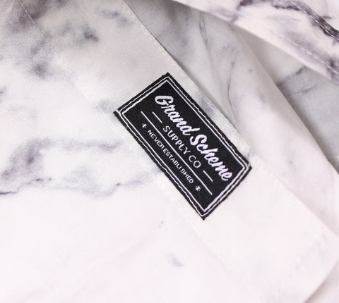 Grand Scheme - Marble S/S Button Down Shirt - The Hidden Base