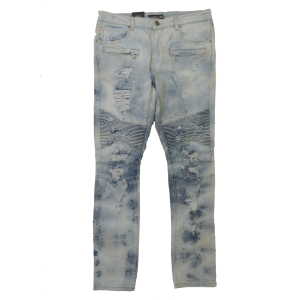 Embellish NYC - Lightwash Biker Denim