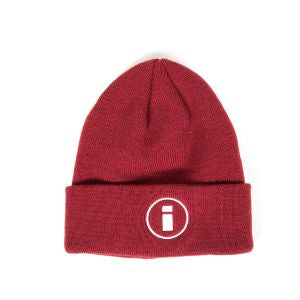 INDCSN - Circle Logo Beanie Burgundy - The Hidden Base