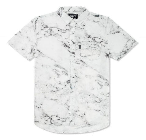 Grand Scheme - Marble S/S Button Down Shirt