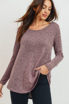 Long Sleeve Twist Back Top