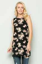 The Lindsay Scallop Hem  Floral- S-3XL